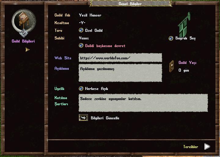 Guild Bilgileri
